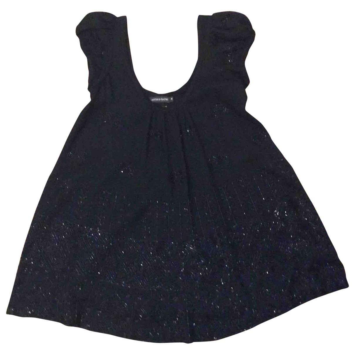 Antik Batik \N Kleid in  Schwarz Wolle