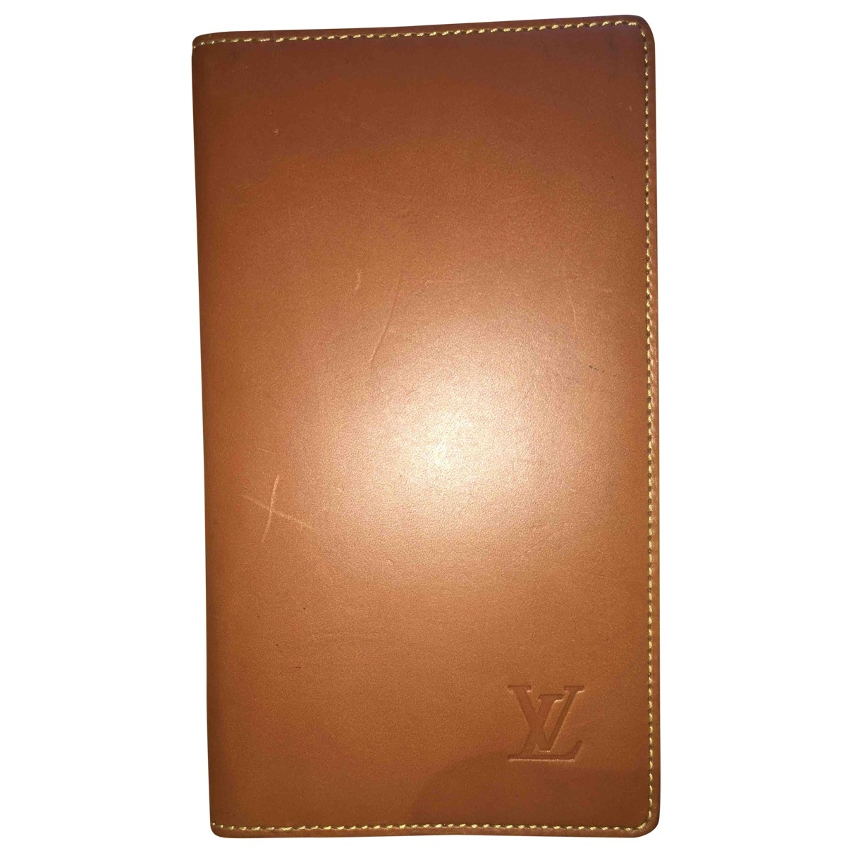 Louis Vuitton Pocket Organizer Brown Leather Small bag, wallet & cases for Men \N