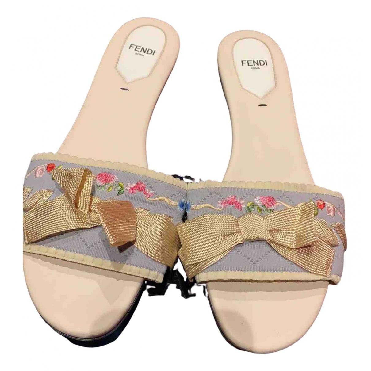Fendi - Sandales   pour femme en toile