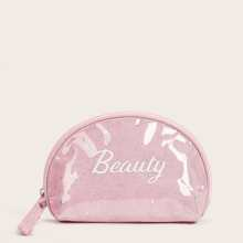 1 Stueck Make-up Tasche mit Buchstaben Grafik