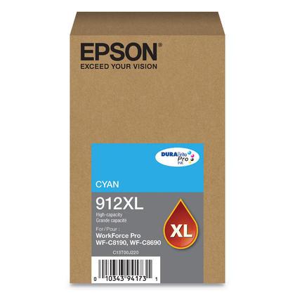 Epson 912XL T912XL220 cartouche d'encre originale cyan haute capacité