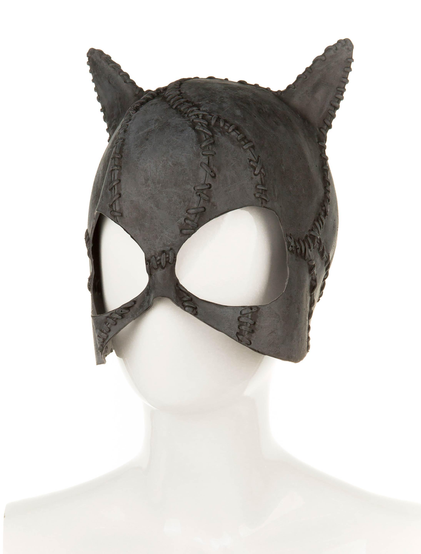 Kostuemzubehor Latexmaske Superheldin Farbe: schwarz