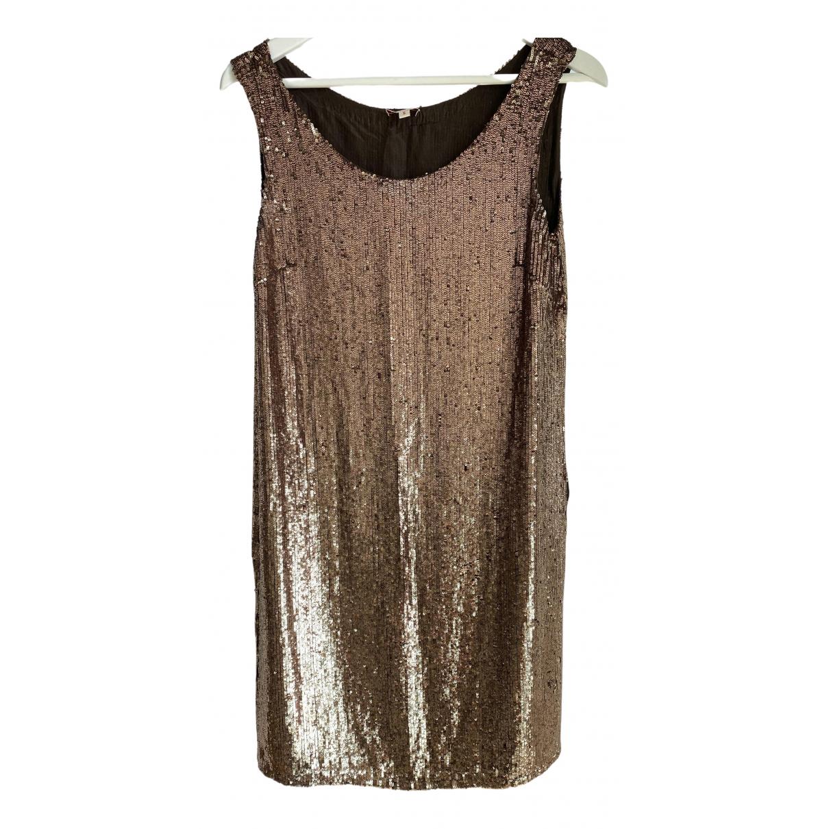Parosh - Robe   pour femme en soie - dore