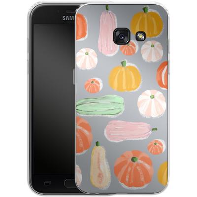Samsung Galaxy A3 (2017) Silikon Handyhuelle - Pumpkin Pattern Grey von Mukta Lata Barua