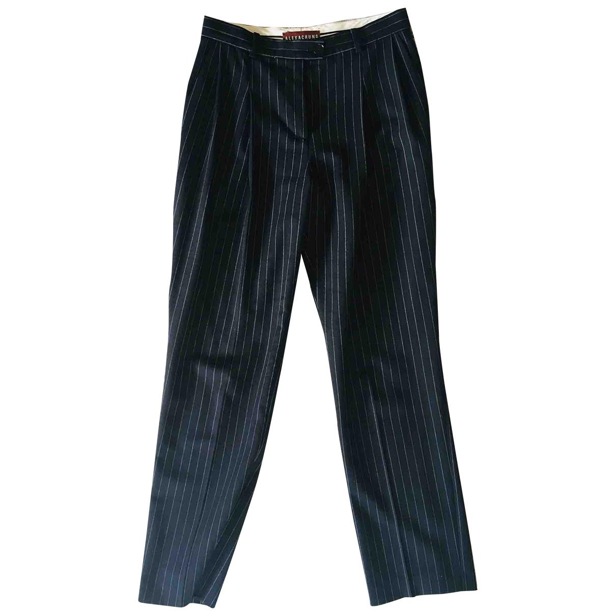 Alexa Chung \N Black Wool Trousers for Women 10 UK