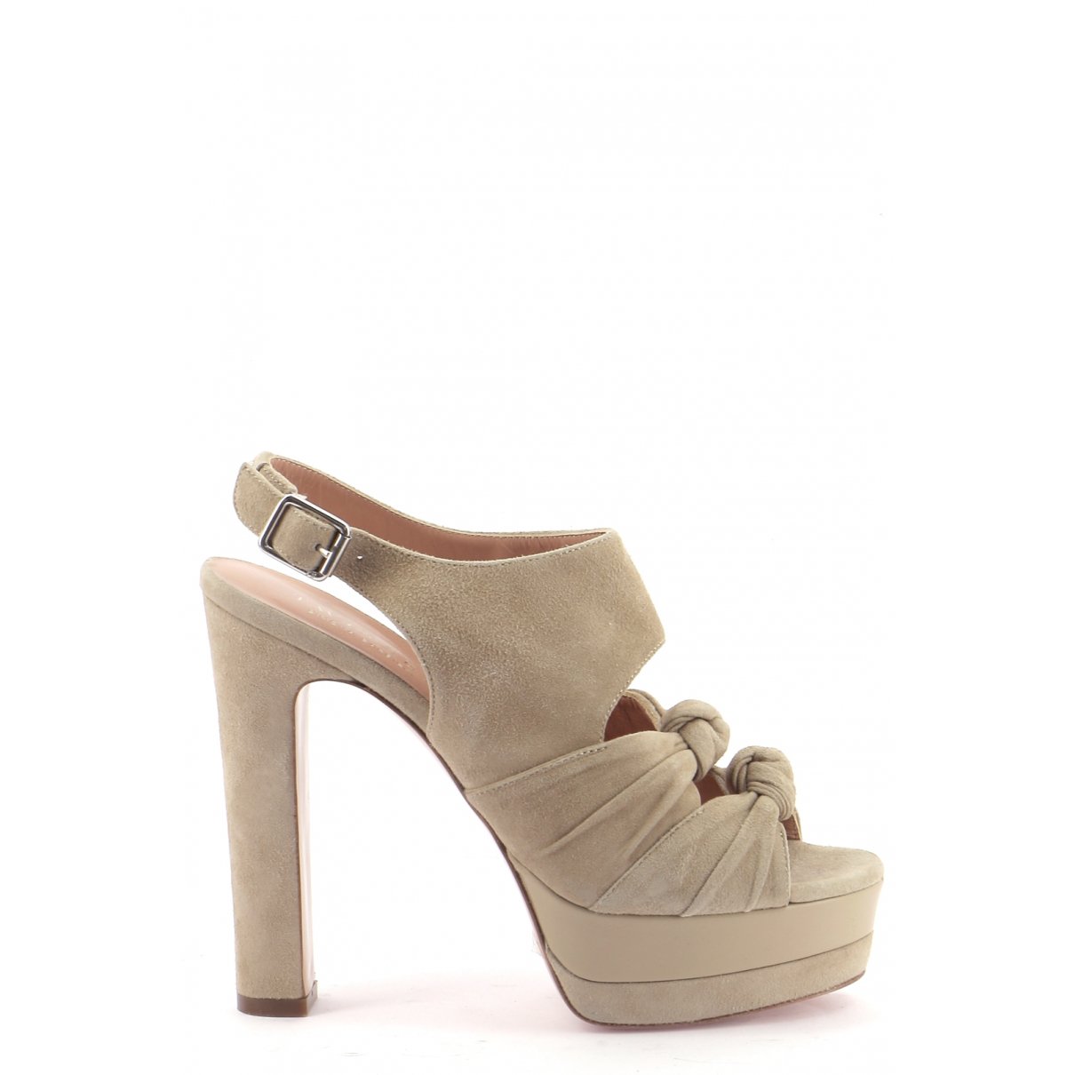 Twin Set \N Sandalen in  Beige Leder