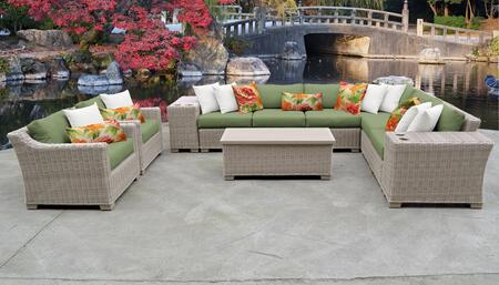 Coast Collection COAST-11d-CILANTRO 11-Piece Patio Set 11d with 1 Corner Chair   5 Armless Chair   2 Cup Table   1 Storage Coffee Table   2 Club