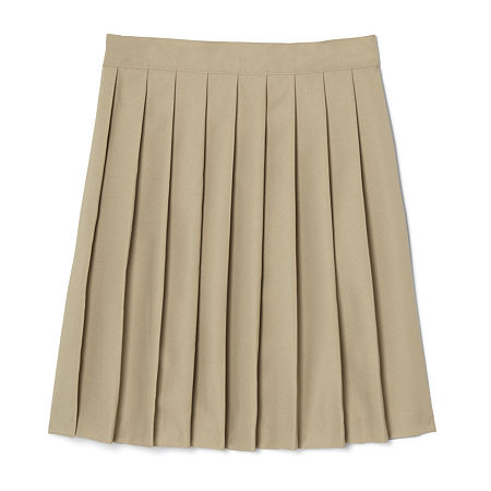 French Toast Little & Big Girls Pleated Skirt, 5 , Beige