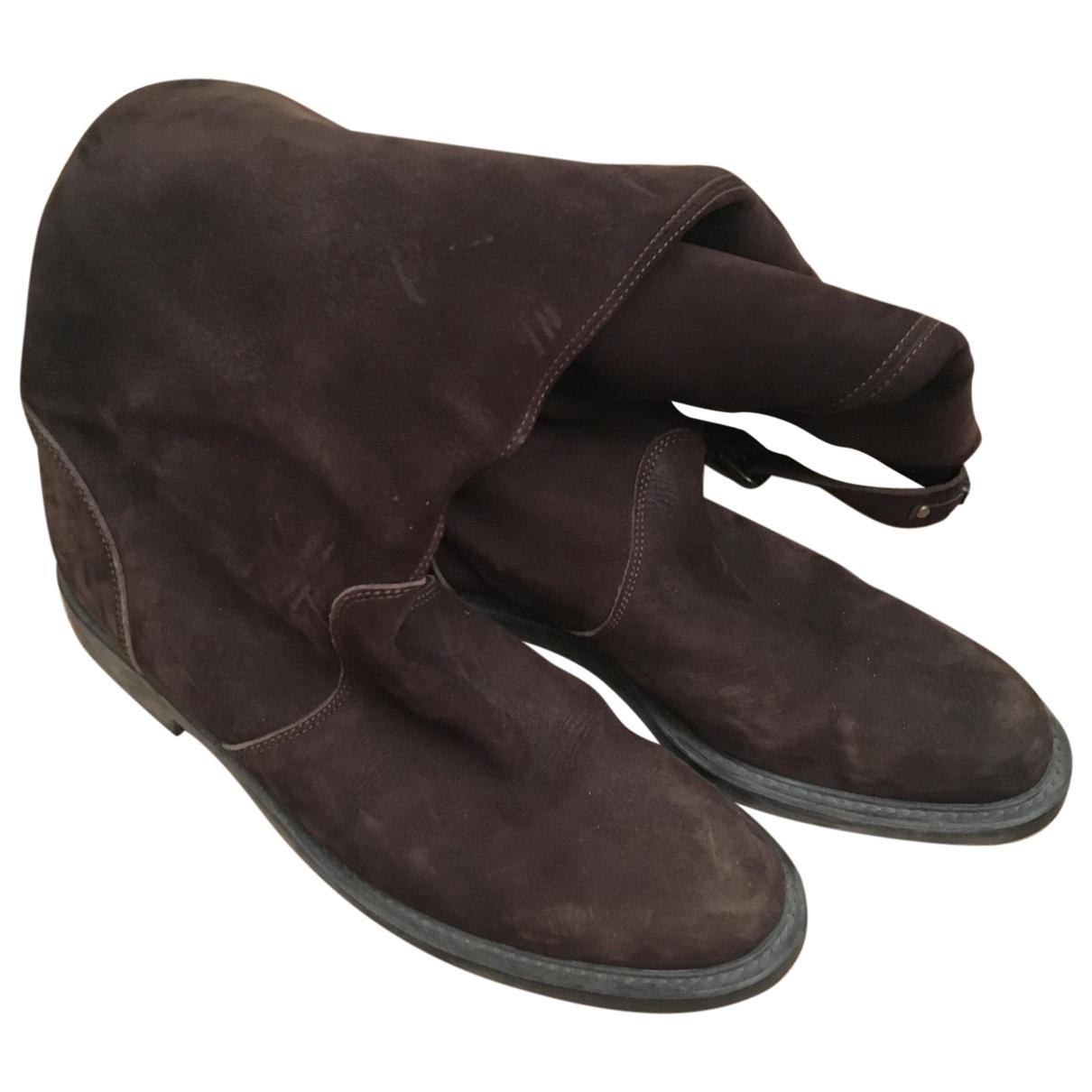 Moschino Love \N Stiefel in  Braun Leder