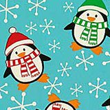 Cute Penguin Gift Wrap - 24 X 417' - Gift Wrapping Paper - Type: Colored Ink On Gloss 40# Paper by Paper Mart