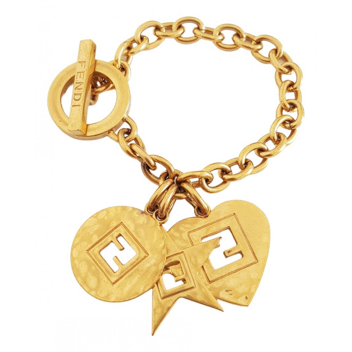 Fendi \N Gold Metal bracelet for Women \N