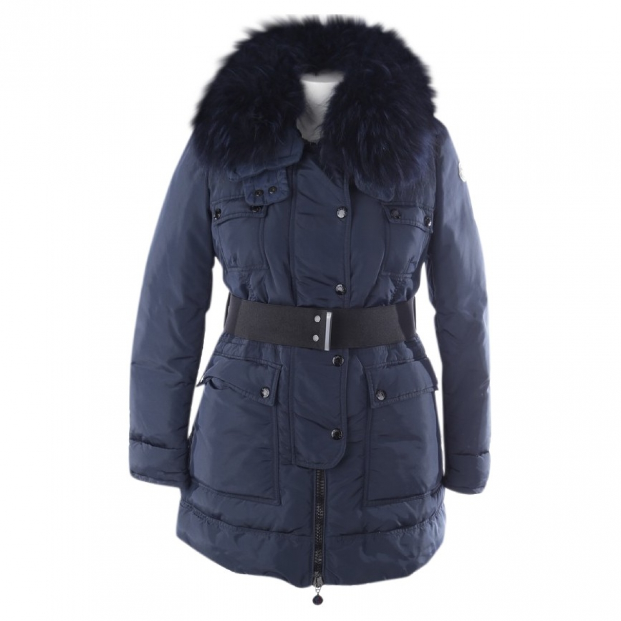 Moncler \N Blue coat for Women 40 FR