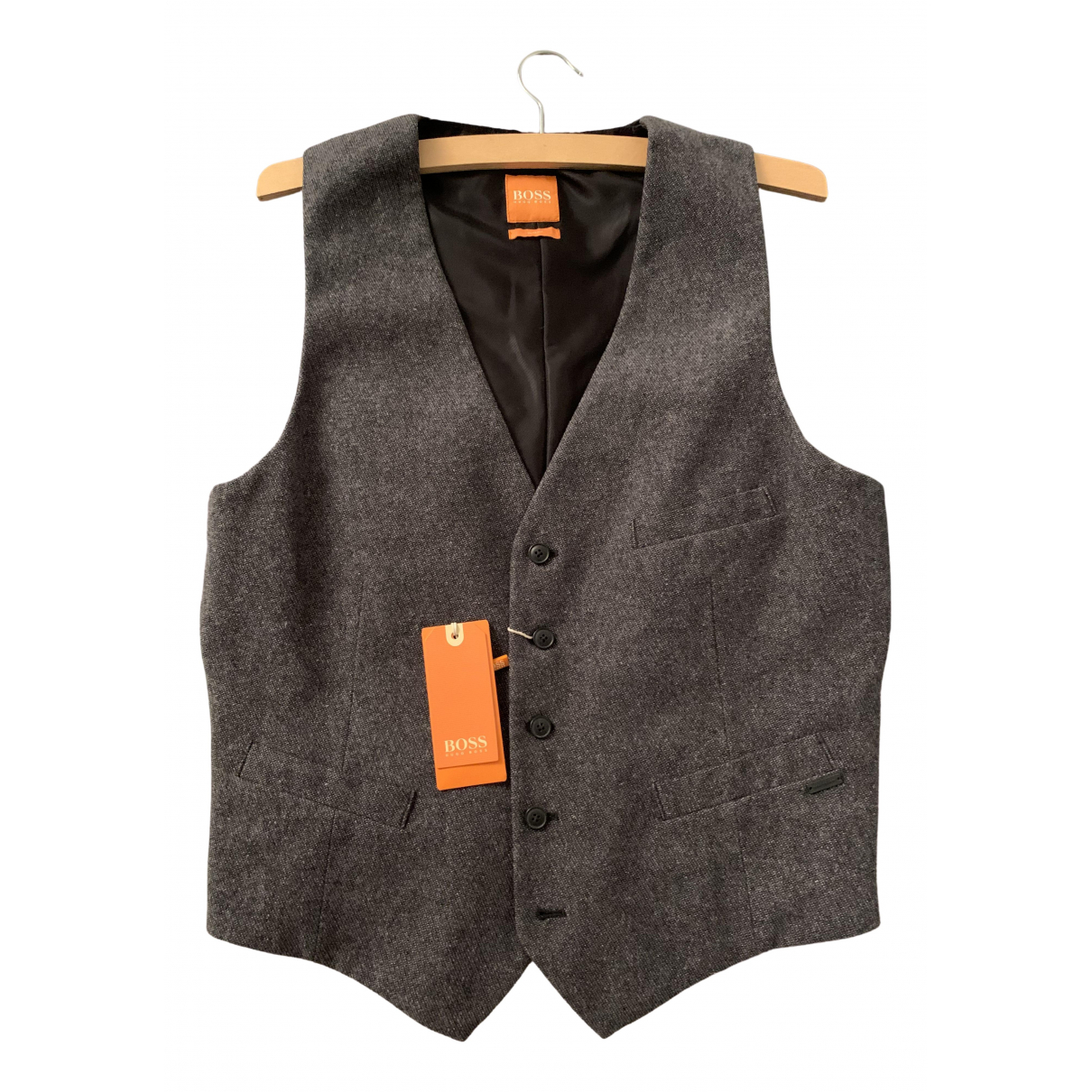 Boss Orange - Pulls.Gilets.Sweats   pour homme en coton - anthracite