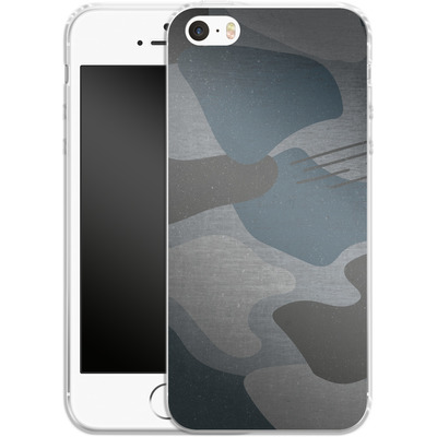 Apple iPhone SE Silikon Handyhuelle - Marine Camo von caseable Designs