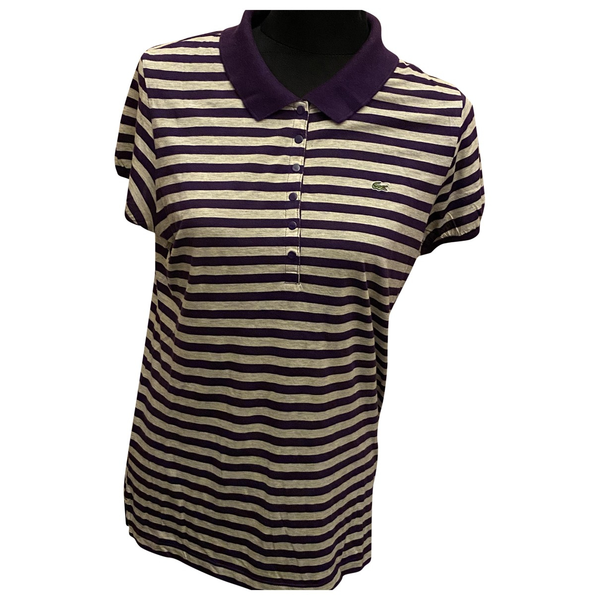 Lacoste N Purple Cotton  top for Women 44 FR