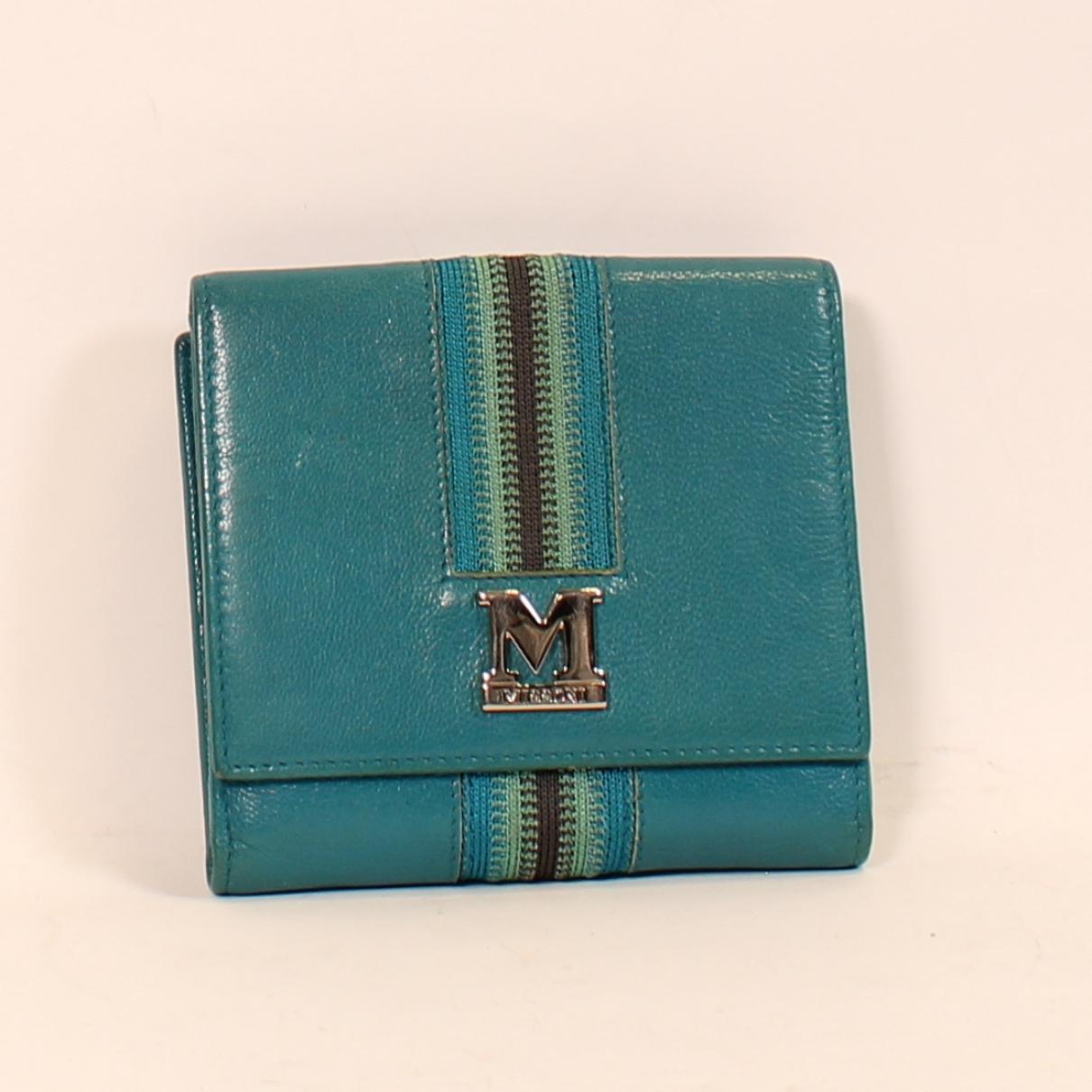 M Missoni \N Portemonnaie in  Blau Leder