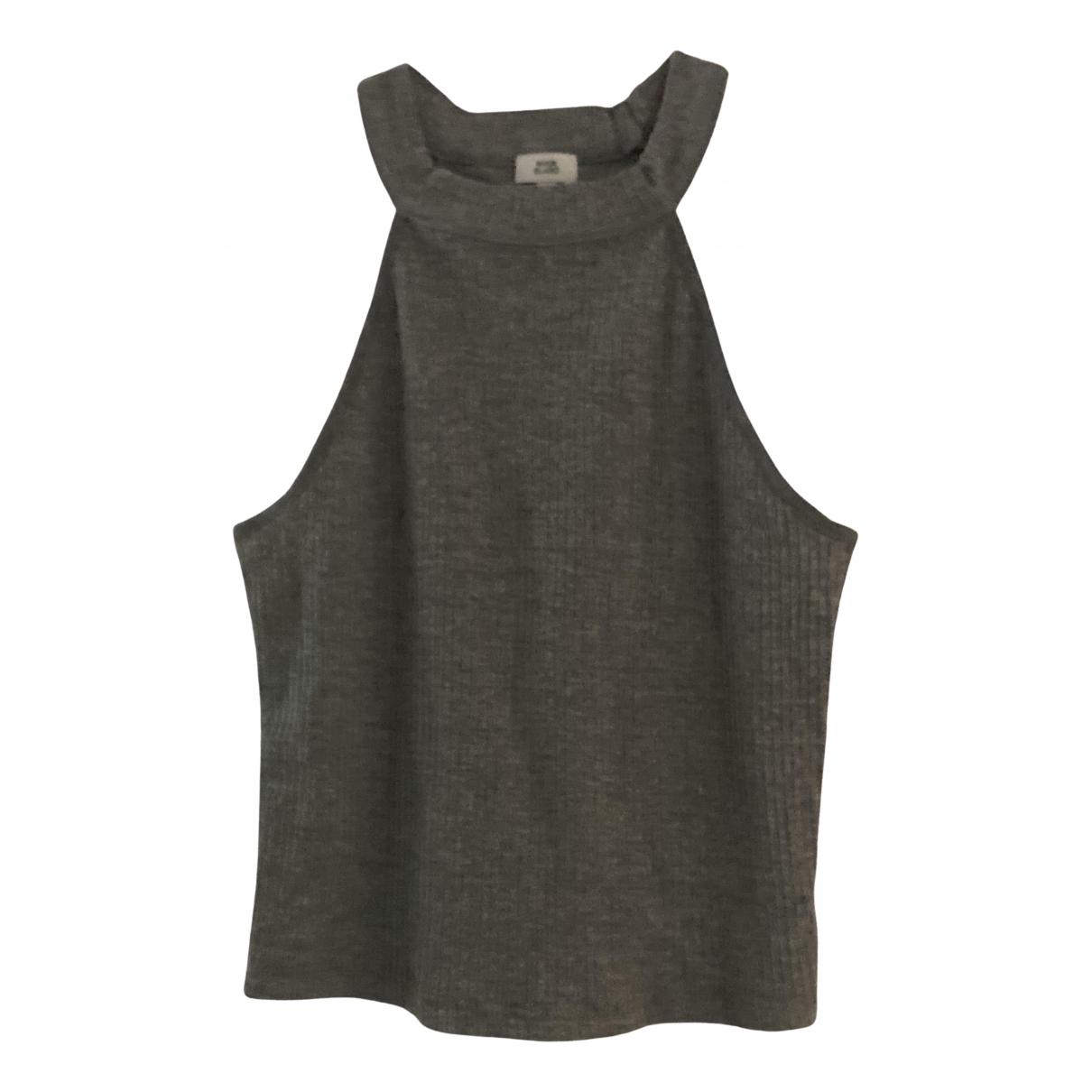 River Island - Top   pour femme en coton - gris