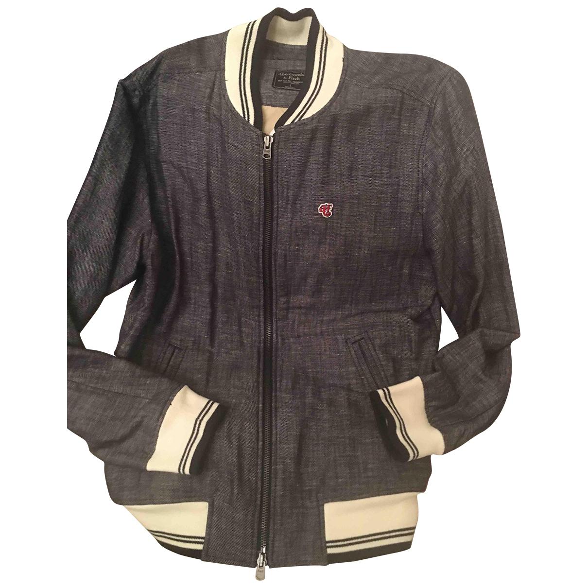 Abercrombie & Fitch - Vestes.Blousons   pour homme en lin - bleu