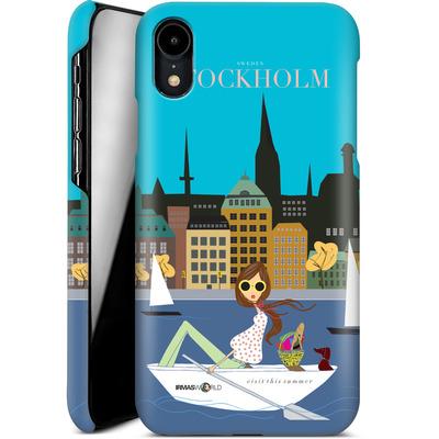 Apple iPhone XR Smartphone Huelle - STOCKHOLM TRAVEL POSTER von IRMA