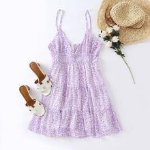 Cami Sommerkleid mit Bluemchen Muster