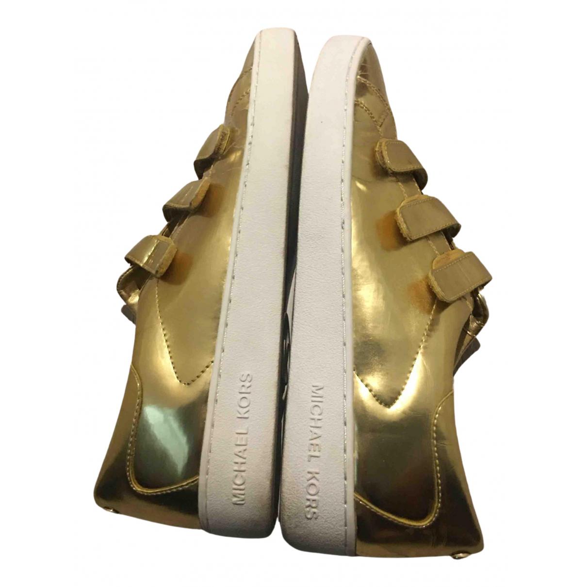 Michael Kors - Baskets   pour femme en caoutchouc - dore