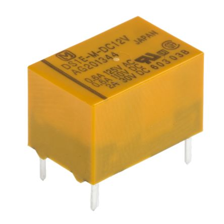 Panasonic , 12V dc Coil Non-Latching Relay SPDT, 2A Switching Current PCB Mount