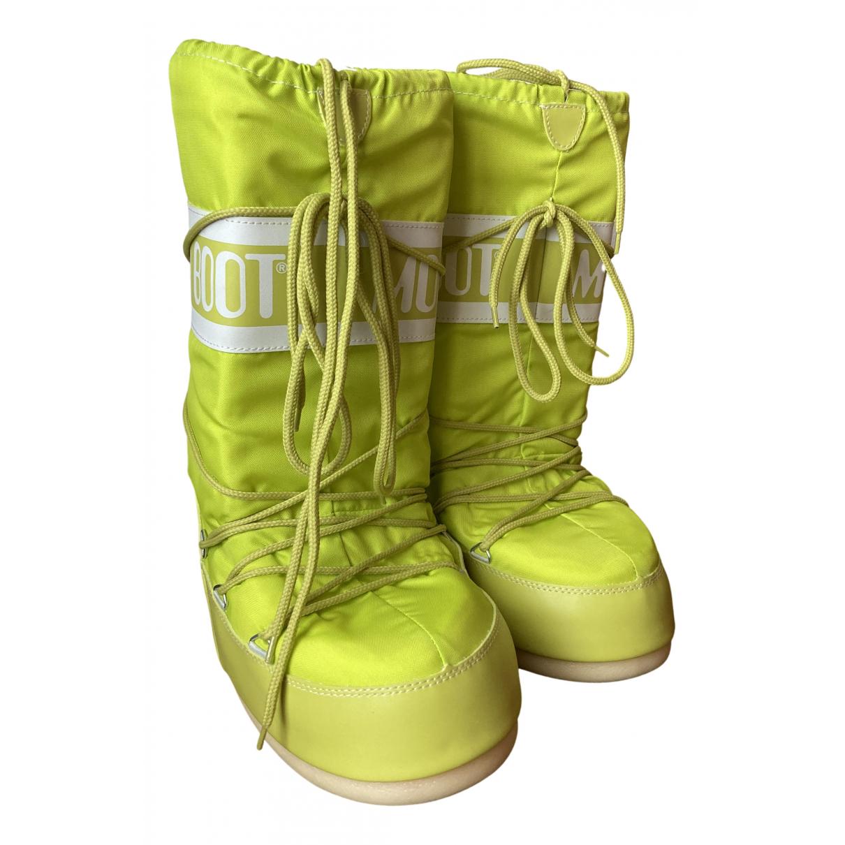 Moon Boot - Bottes   pour femme - jaune