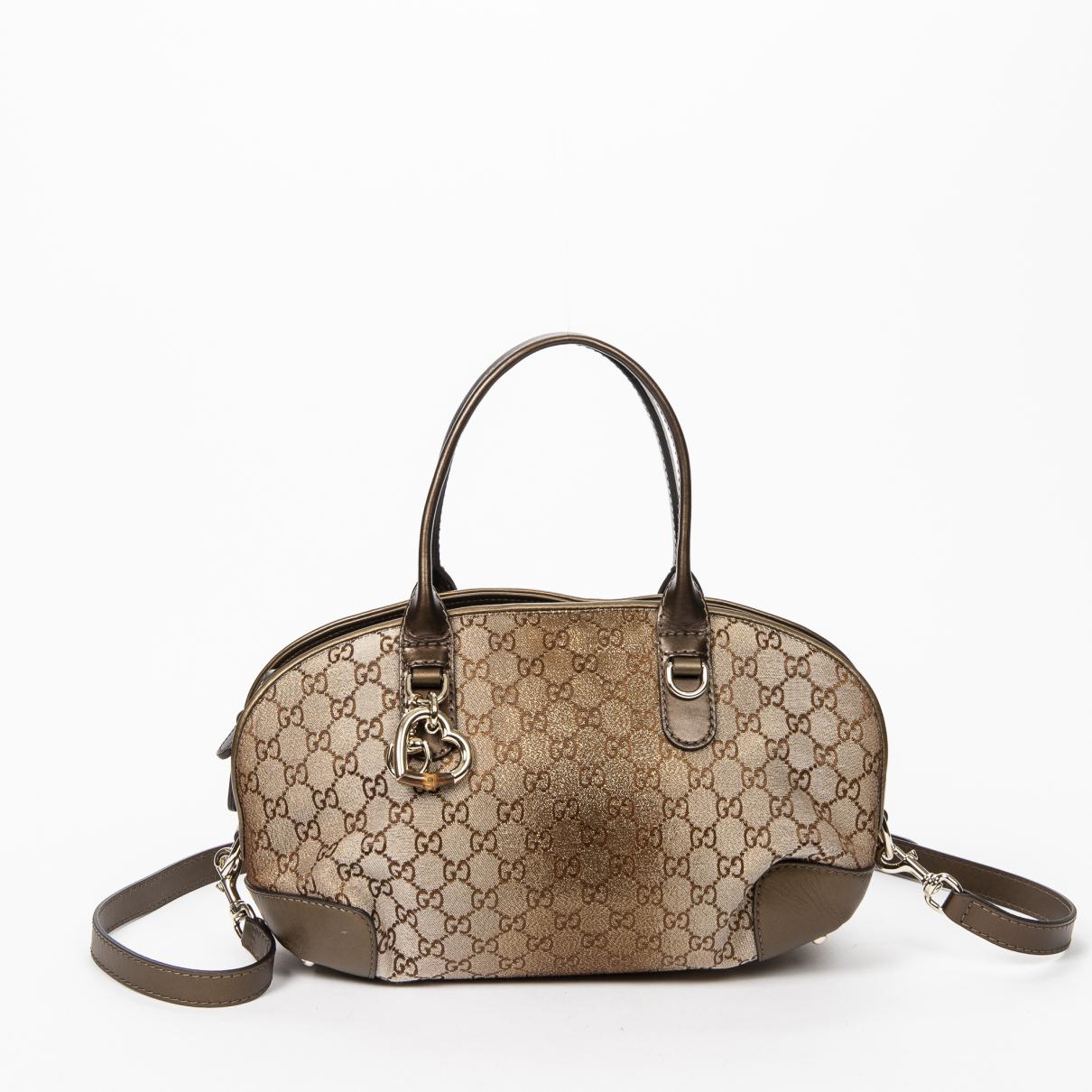 Gucci \N Gold Cotton handbag for Women \N