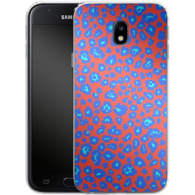 Samsung Galaxy J3 (2017) Silikon Handyhuelle - Bright Leopard Print von caseable Designs