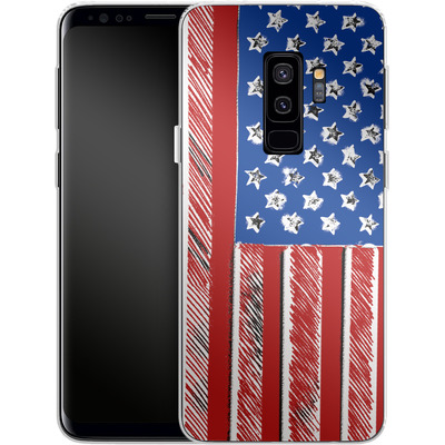 Samsung Galaxy S9 Plus Silikon Handyhuelle - American Flag Colour von caseable Designs