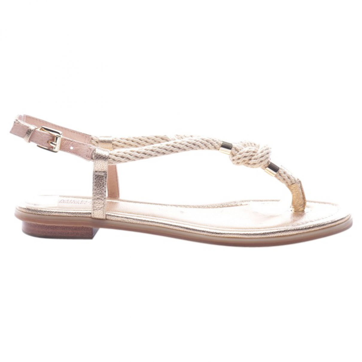 Michael Kors \N Sandalen in  Metallic Leder