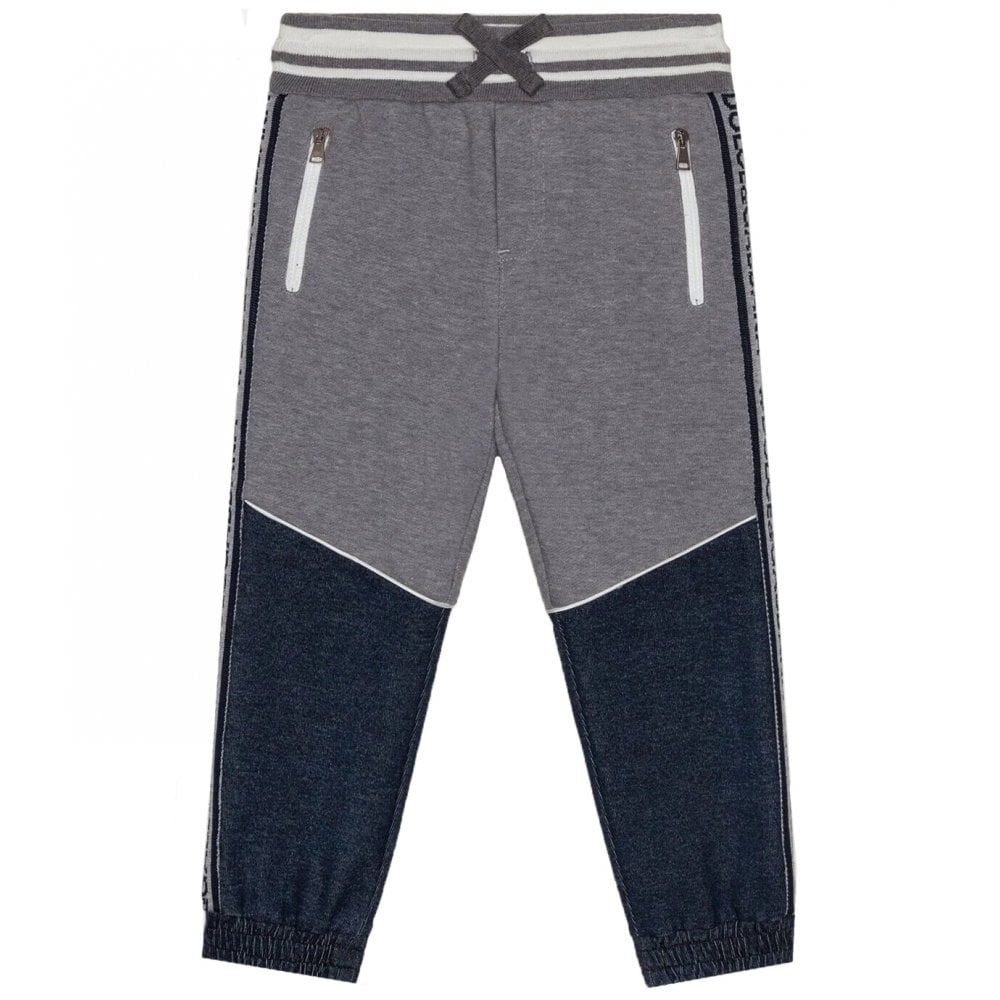 Dolce & Gabbana Cotton Joggers Colour: GREY, Size: 8 YEARS