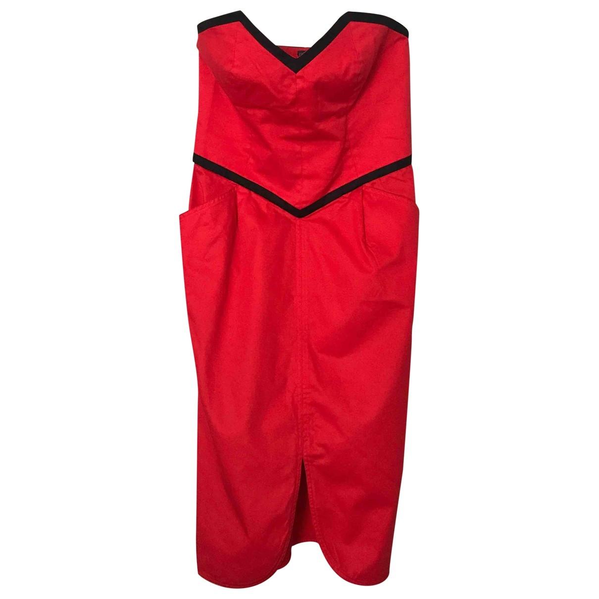 Ungaro Parallele - Robe   pour femme en coton - rouge
