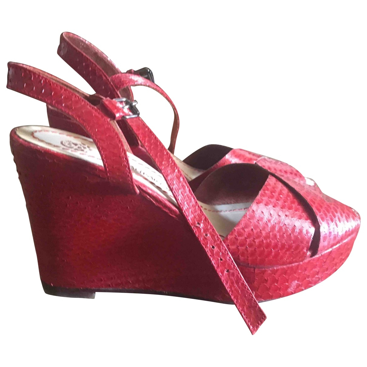 Maliparmi \N Red Leather Sandals for Women 38 EU