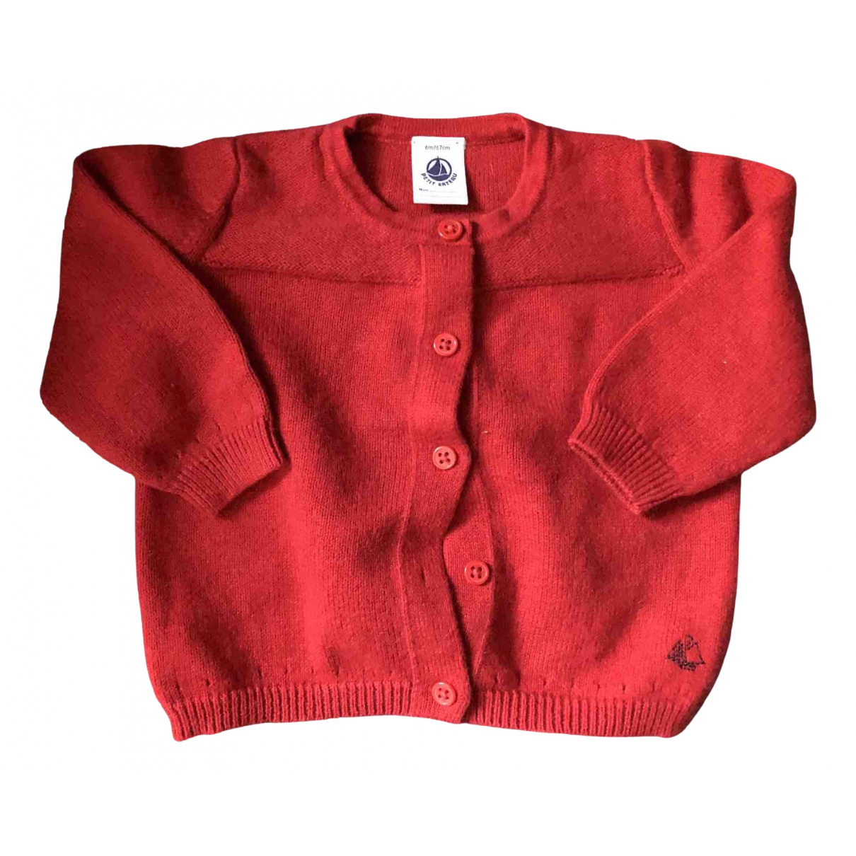Petit Bateau N Red Cotton Knitwear for Kids 6 months - up to 67cm FR