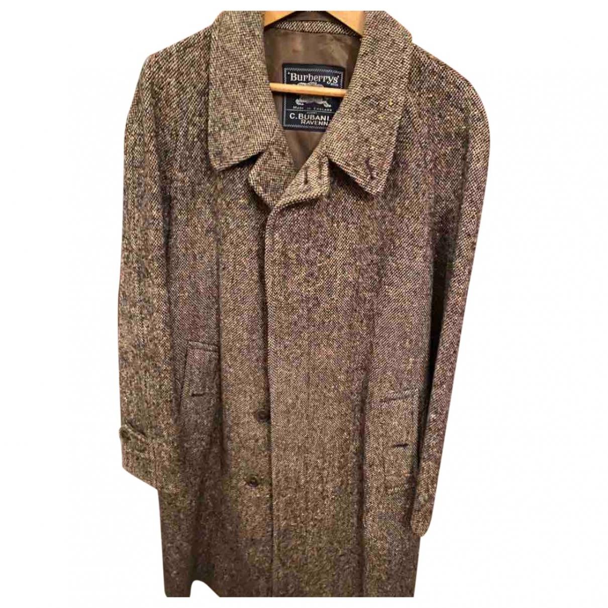 Burberry \N Brown Wool coat  for Men 48 IT