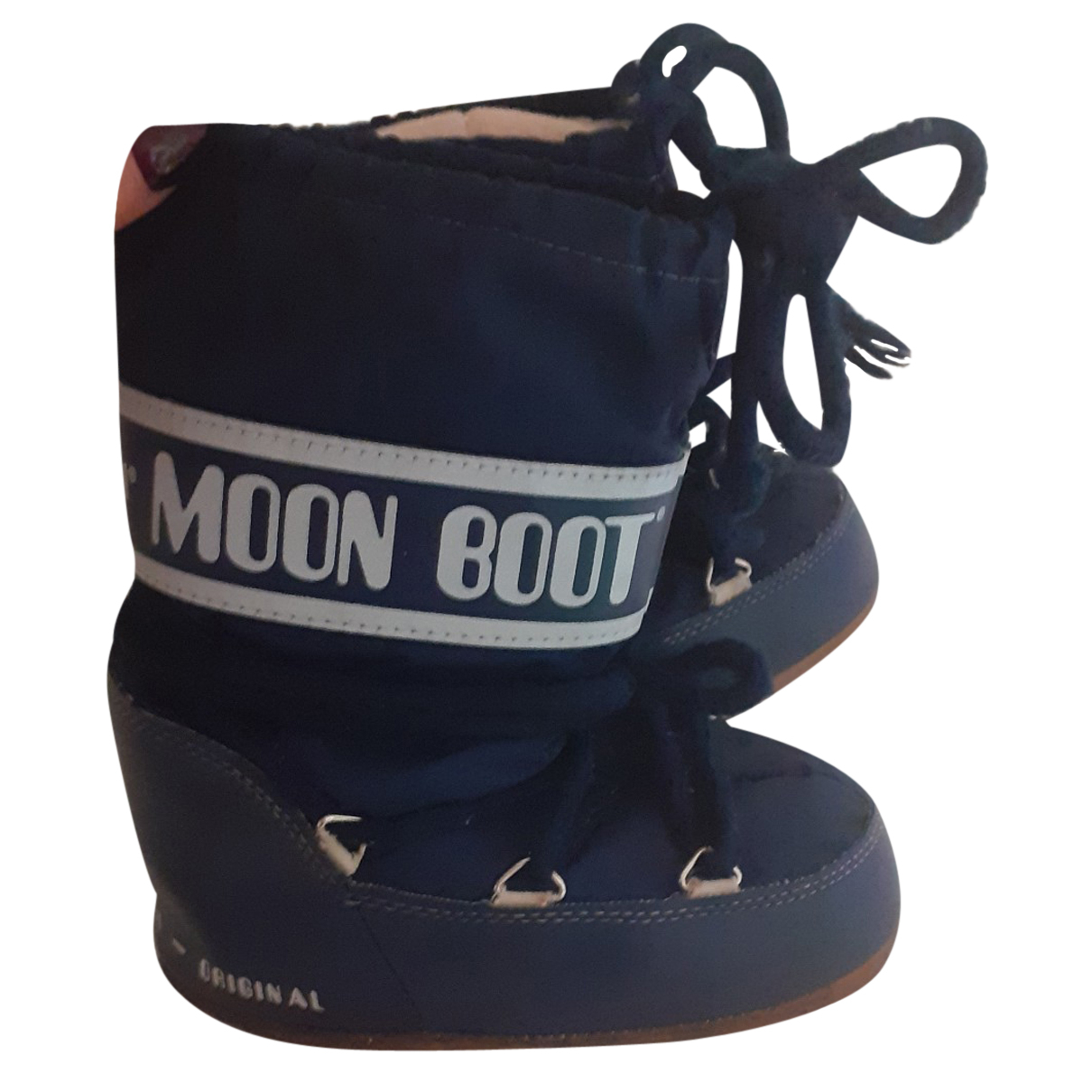 Moon Boot N Blue Cloth Boots for Kids 30 FR