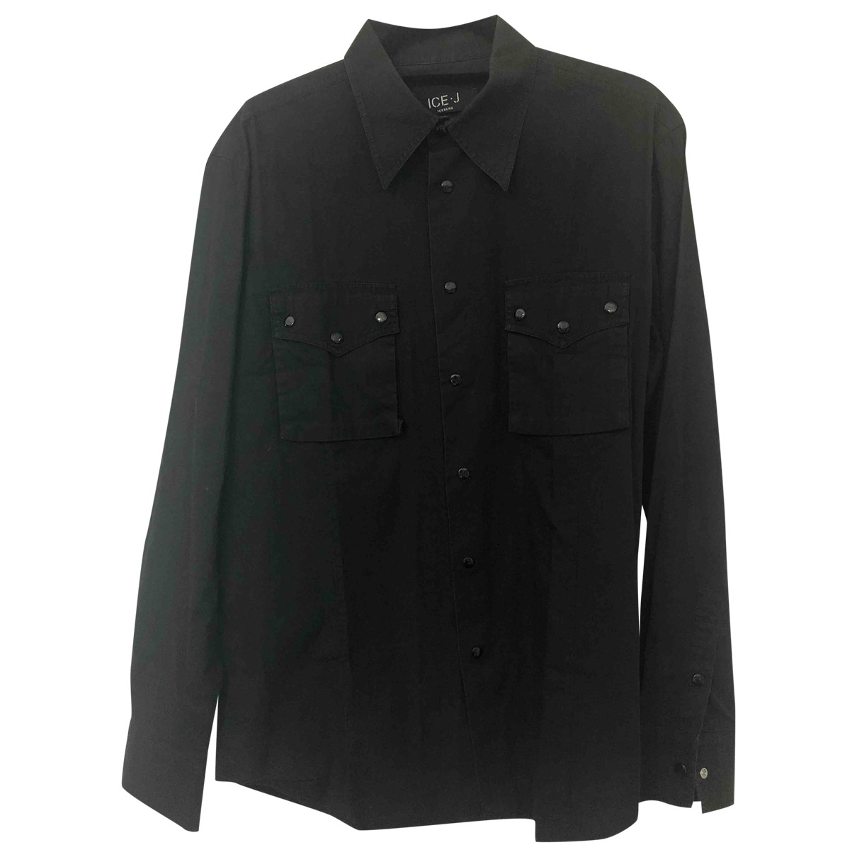 Iceberg \N Black Cotton Shirts for Men XL International