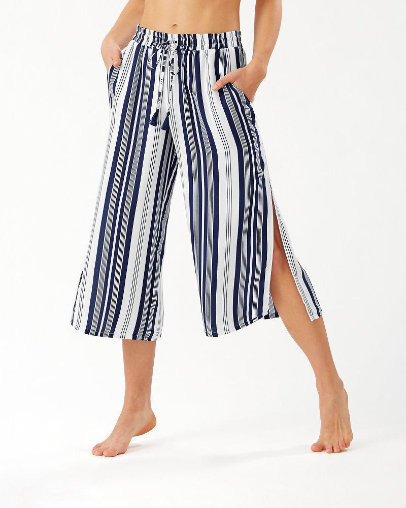 Tan Lines Stripes Wide-Leg Pants