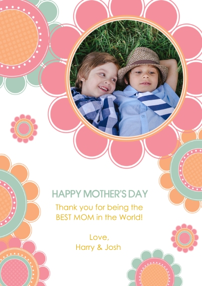 Mother's Day Cards 5x7 Cards, Premium Cardstock 120lb with Rounded Corners, Card & Stationery -Bountiful Blooms