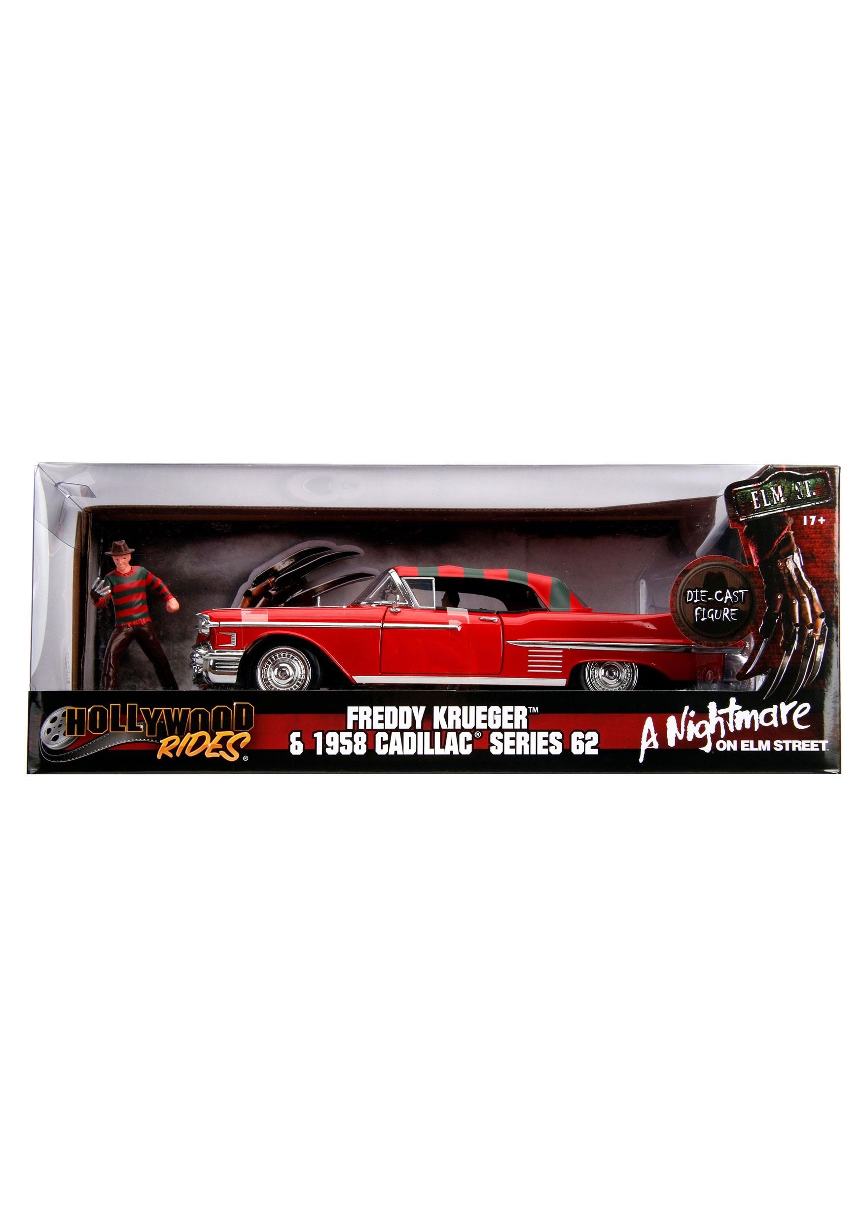 Nightmare on Elm Street 1957 Cadillac with Freddy Krueger Figure