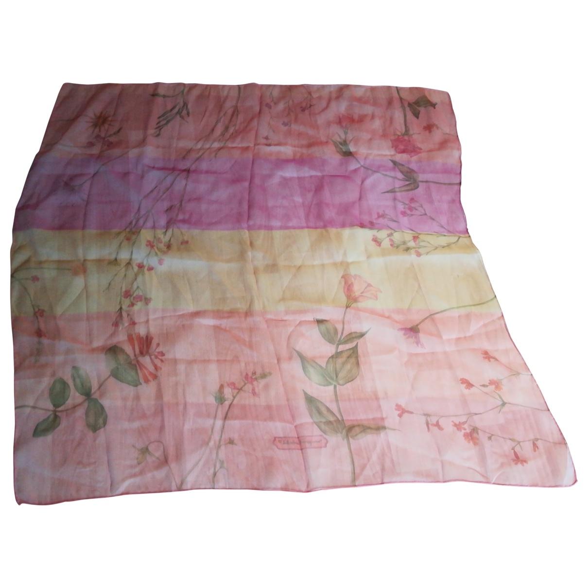 Salvatore Ferragamo - Carre   pour femme en soie - rose