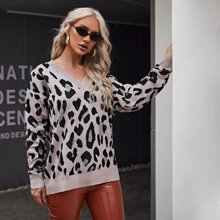 Pullover mit Muster und sehr tief angesetzter Schuterpartie