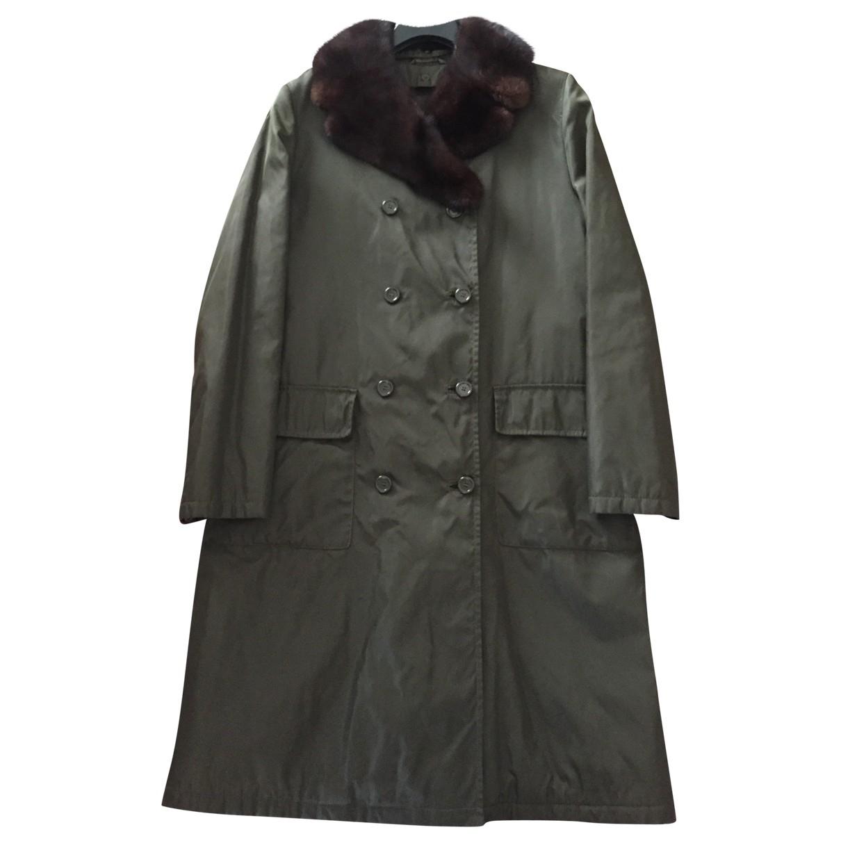 Prada - Manteau   pour femme - vert