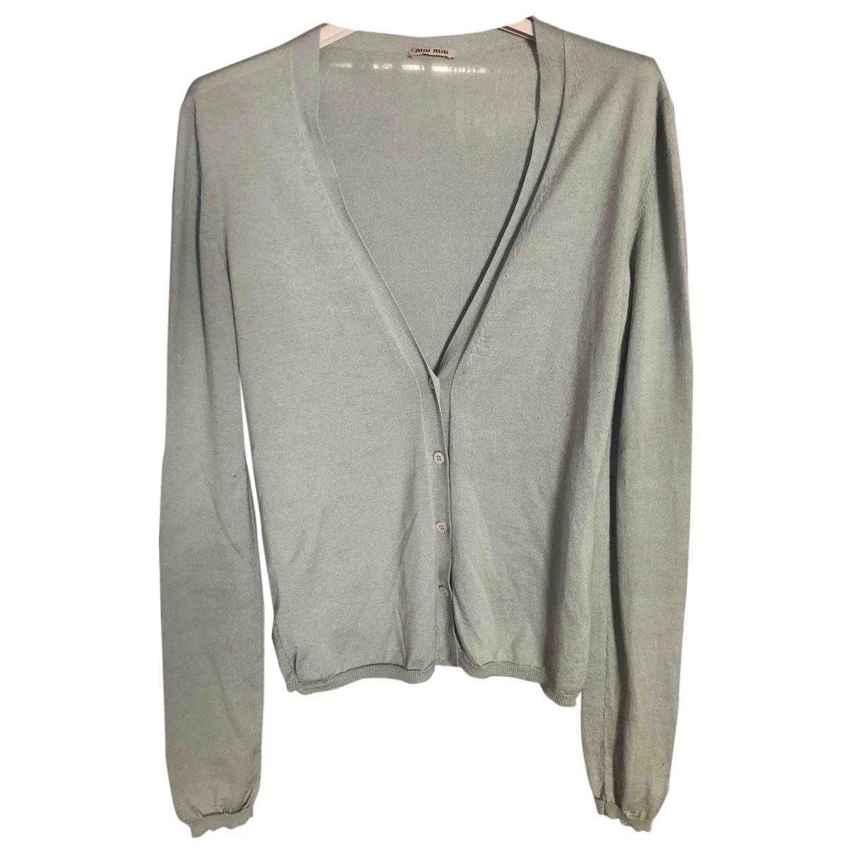 Miu Miu \N Green Wool Knitwear for Women 42 IT