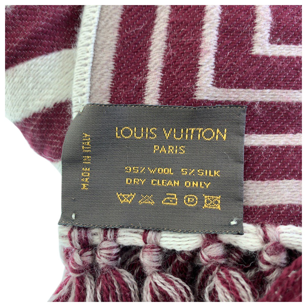 Louis Vuitton \N Burgundy Wool scarf & pocket squares for Men \N