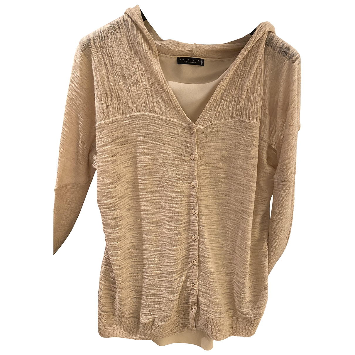Twin Set - Robe   pour femme en laine - beige