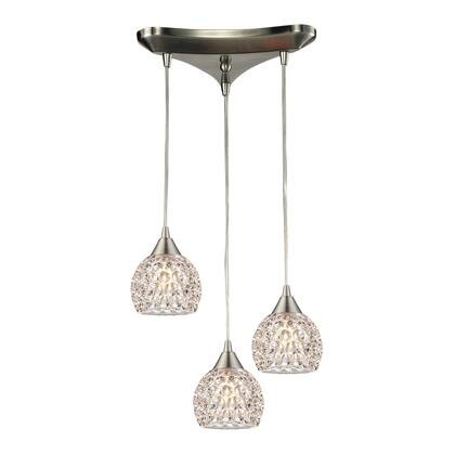 10341/3 Kersey Collection 3 Light chandelier in Satin