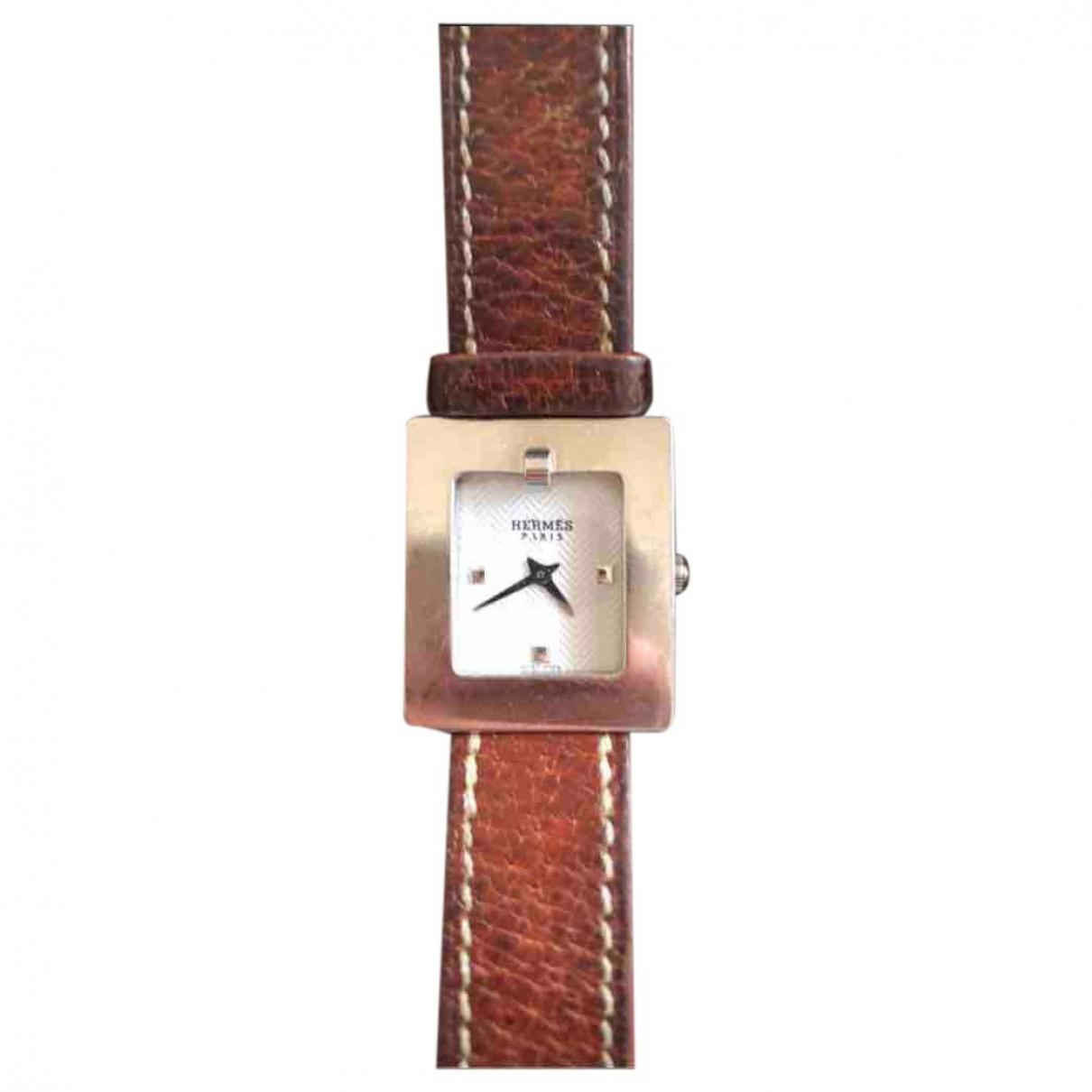 Hermes Belt Uhr in  Silber Stahl