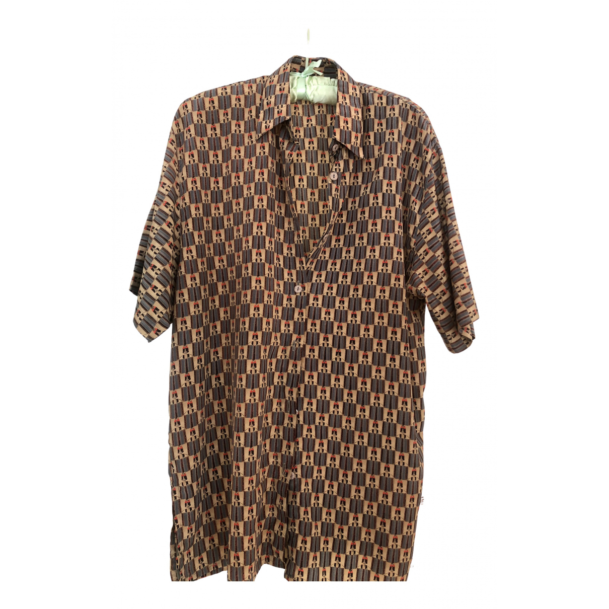 Non Signé / Unsigned Oversize Silk  top for Women 4 US